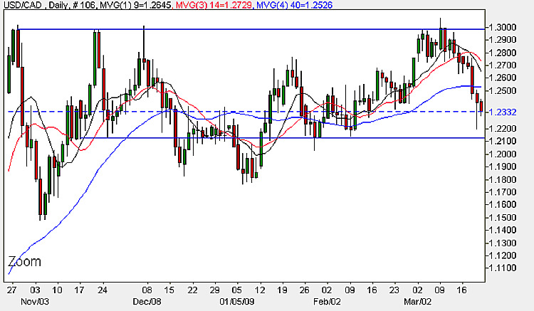 USD CAD - Daily Candle Chart 20th March 2009